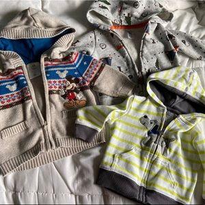 Set of 3 baby boy sweatshirts